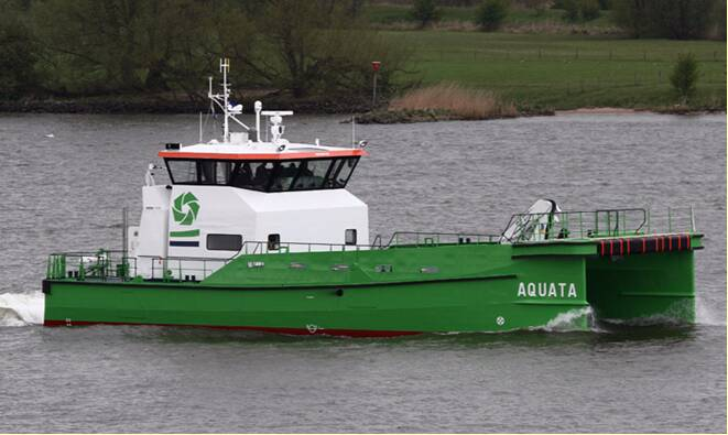 "Equipements de Vedettes - Deme Fleet - Wind Farm Suppport Catamaran ""Aquata"""