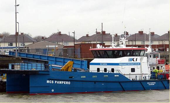 Equipements de Vedettes - Bow fender Ocean 3 for WFSC MCS Pampero - Damen Shipyards