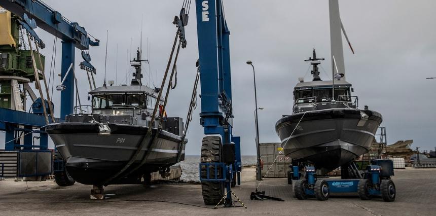 Equipement de Vedettes Ocean 3 - 2 Patrouilleurs 19 m Garde- côtes Estoniens