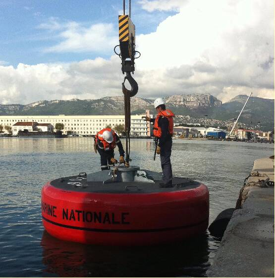 Base Navale Toulon - Coffre d'amarrage en test
